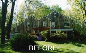 before remodel rear of Katonah home