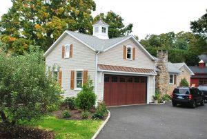 Brookfield CT garage addition by DeMotte Architects