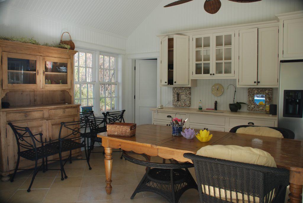 katonah ny pool house kitchen