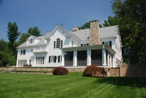 westport ct home with screened porch