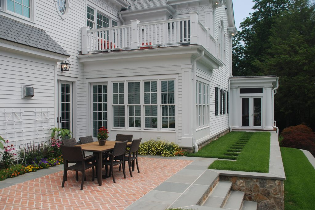 exterior of screened porch by demotte architects