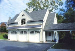 New Canaan garage addition by DeMotte Architects