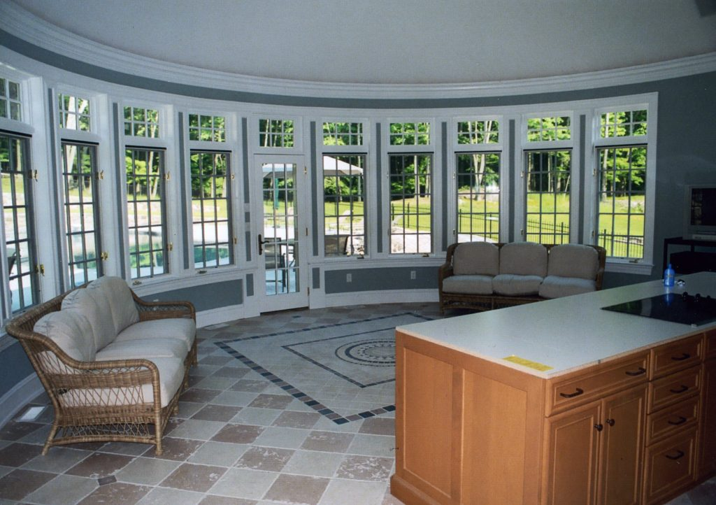 pool house curved windows in ny