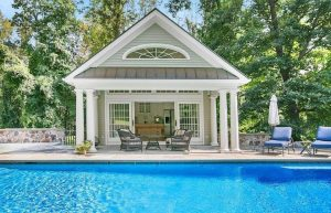 pool house design in NY by DeMotte Architects