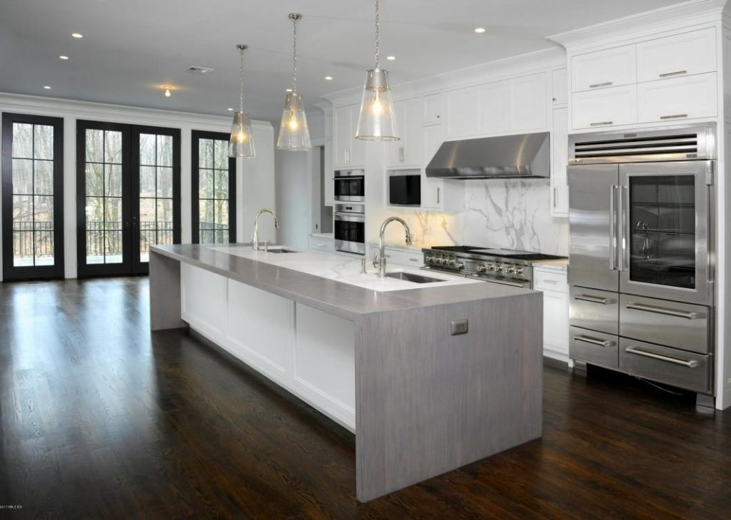 Contemporary Colonial in Greenwich CT kitchen shown
