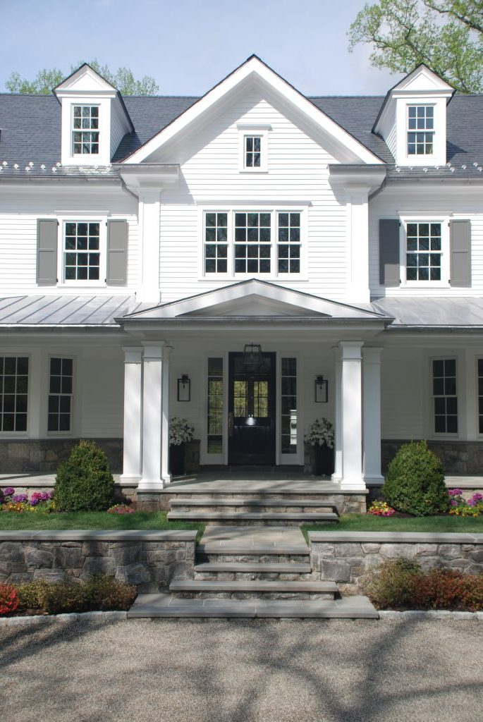 greenwich ct spec house entrance