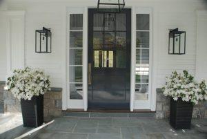 Greenwich CT home design front door of Colonial