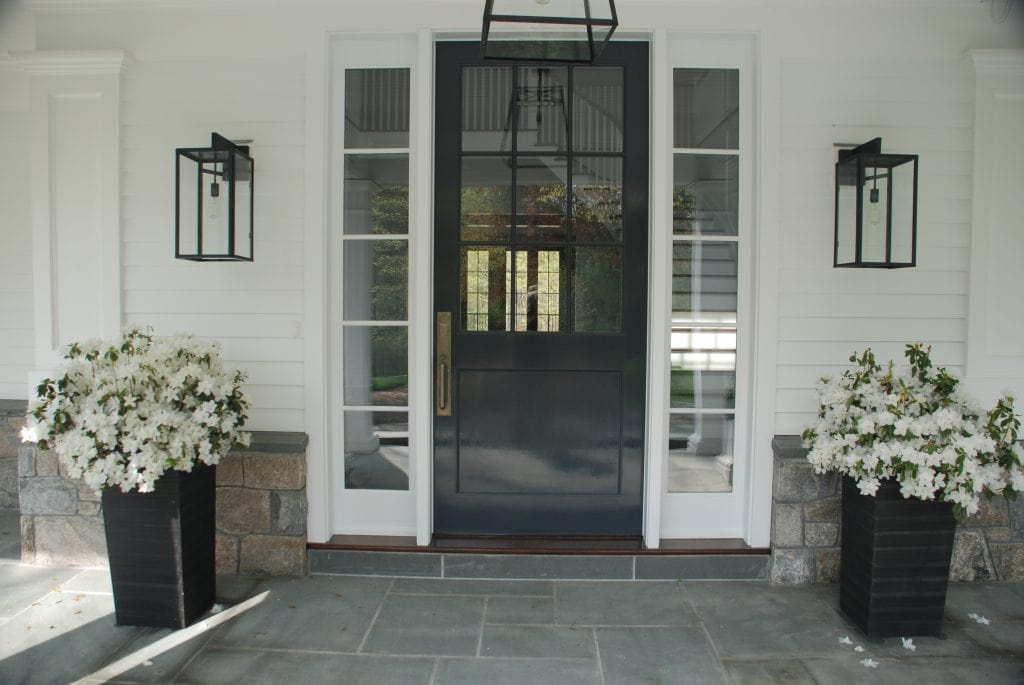 Greenwich CT home design front door of Colonial