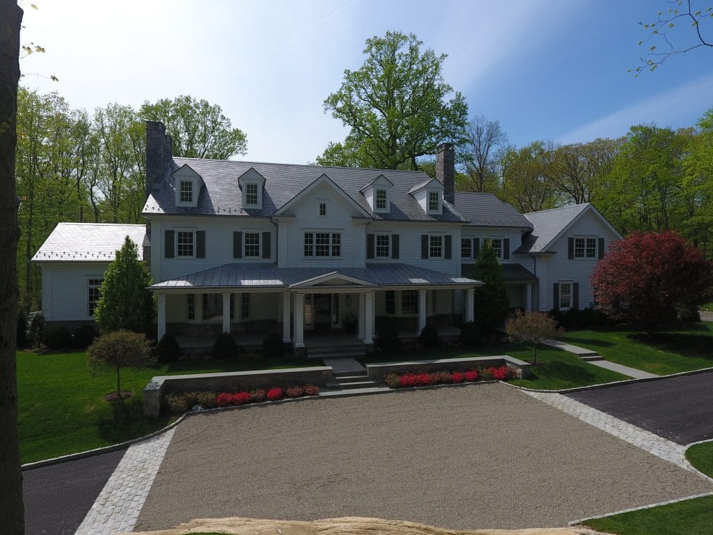 Greenwich CT spec house design by DeMotte Architects