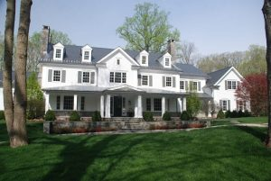 Spec house in Greenwich CT in contemporary Colonial design
