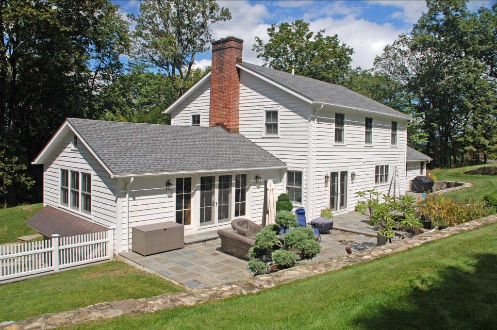Mt Kisco NY farmhouse remodel rear shown
