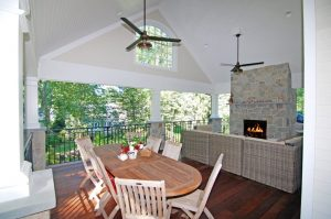 Riverside remodel with covered porch by DeMotte Architects