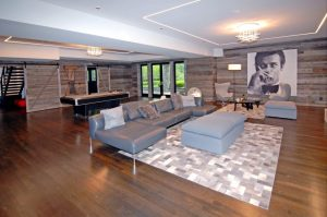 Colonial home family room in Greenwich CT