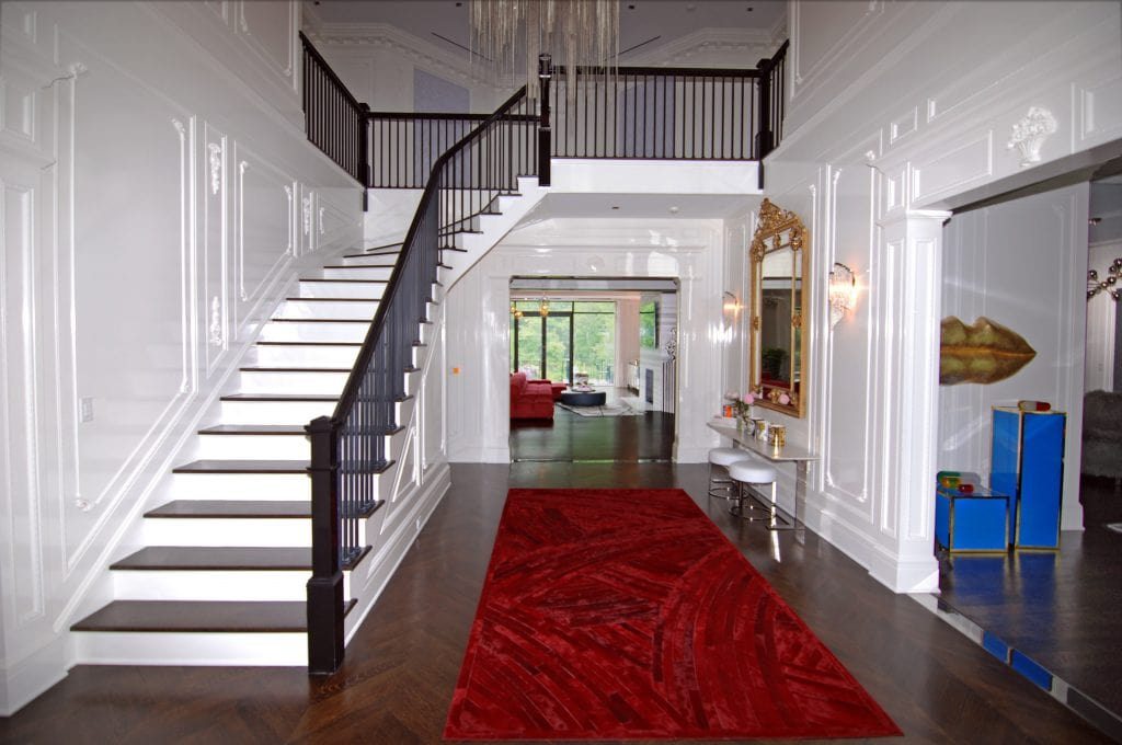 Colonial home interior in Greenwich CT foyer shown