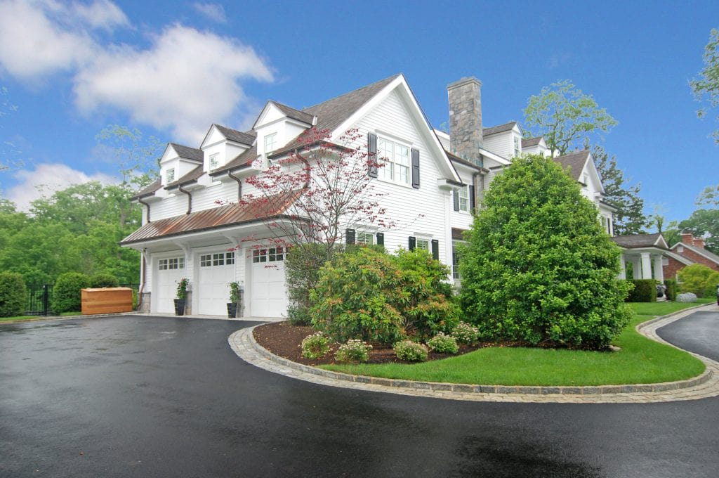 Colonial home with 3 car garage in Greenwich CT