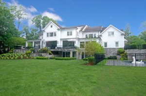 greenwich ct custom home design by demotte architects rear shown