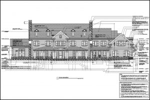 detailed home construction drawings by demotte architects ct & ny architect
