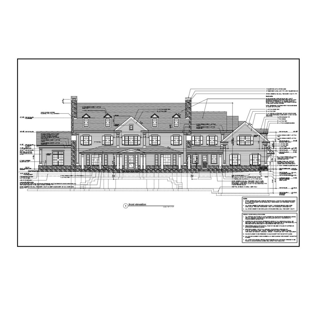 greenwich ct custom home detailed construction drawings by demotte architects