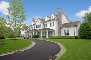 Custom colonial home design in Greenwich CT