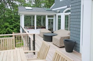 Chappaqua NY home addition with screened porch by DeMotte Architects