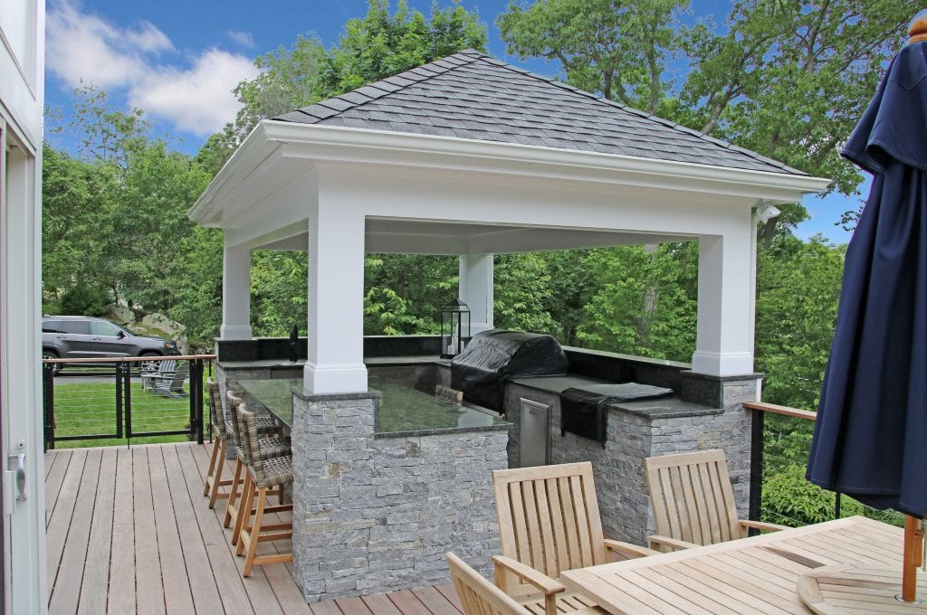 Chappaqua NY home remodel with outdoor kitchen