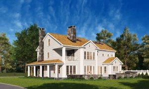 Riverside CT colonial by DeMotte Architects exterior