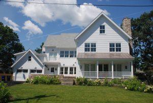 building a better house, exterior of rowayton ct modern farmhouse