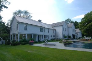 rear of greenwich ct home addition by demotte architects