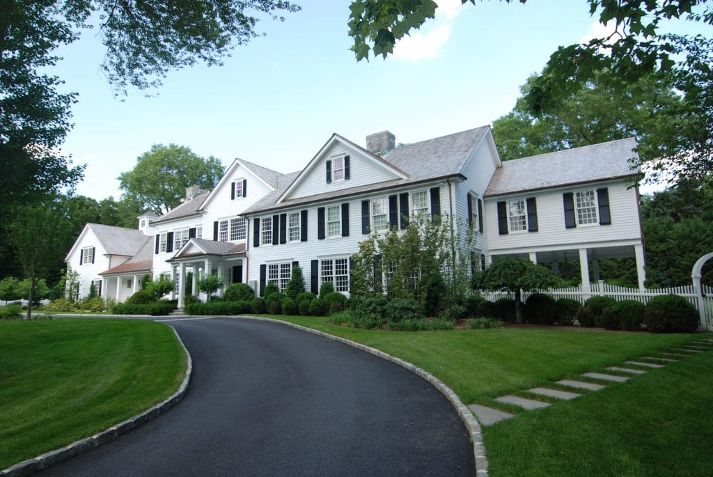 Greenwich CT home addition remodel exterior shown
