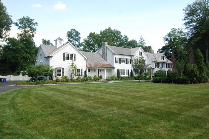 front shown of home addition in greenwich ct by connecticut architect demotte architects