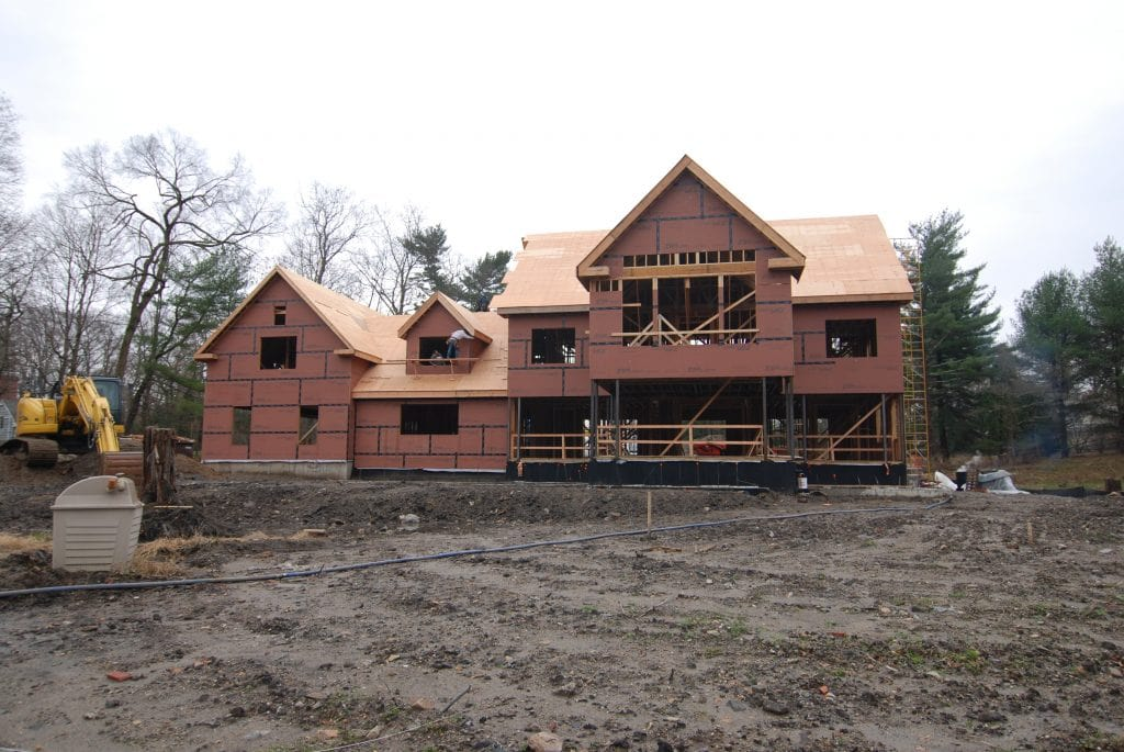 4 home construction in progress