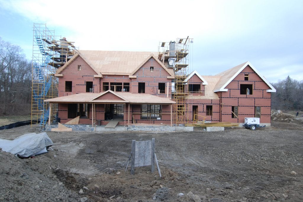 5 home construction in progress