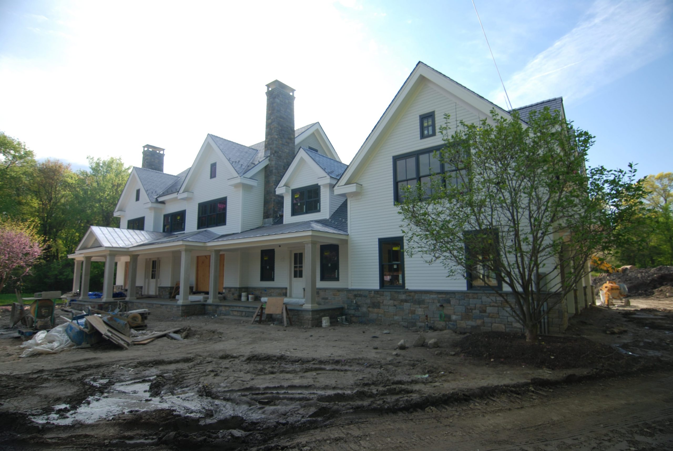 7 greenwich ct home construction in progress