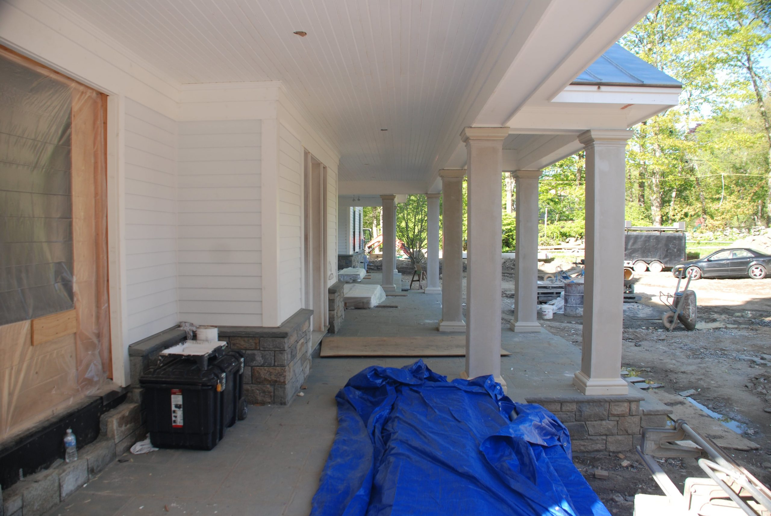 8 greenwich ct home construction in progress