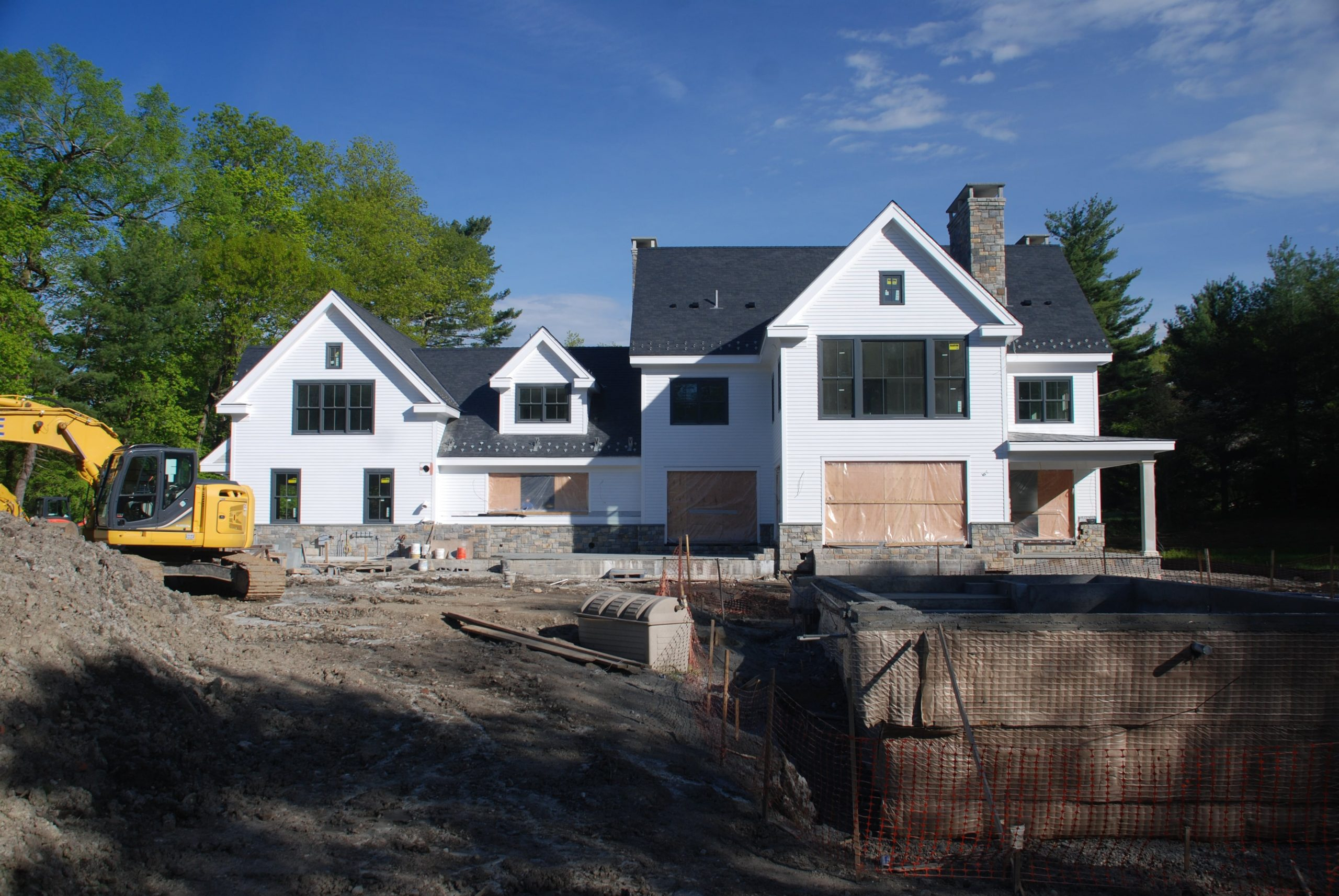 9 greenwich ct home construction in progress