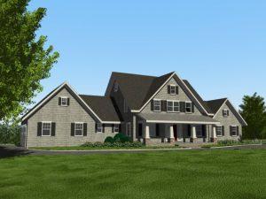 Katonah NY custom home exterior demotte architects