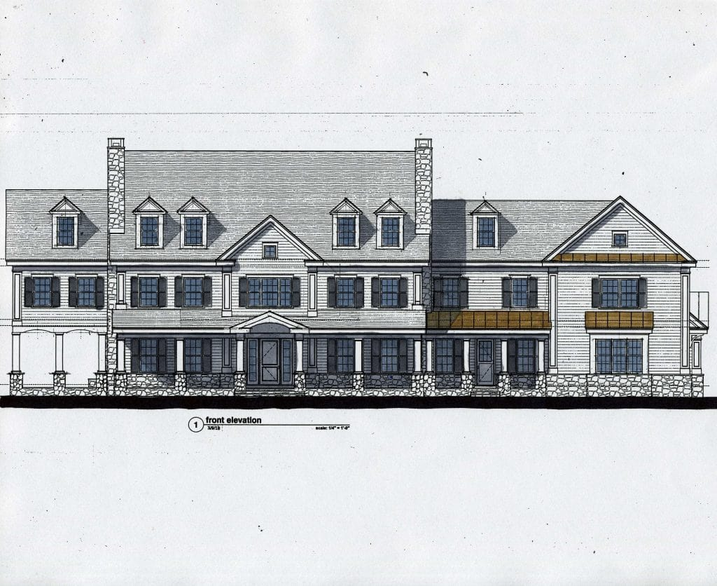 Greenwich CT custom home design rendering by DeMotte Architects