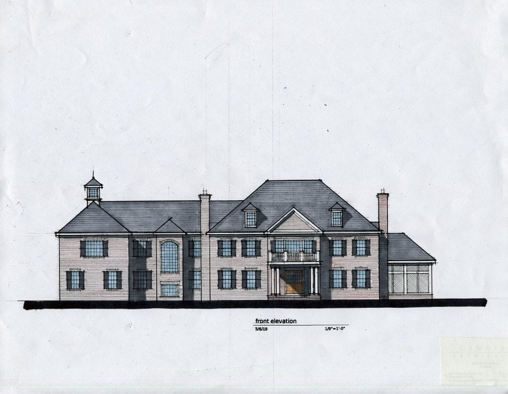Greenwich CT custom home design rendering