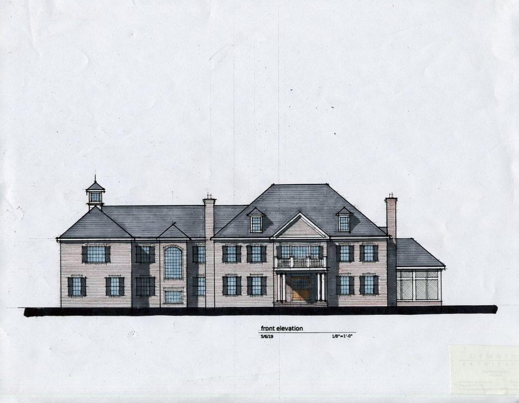 Greenwich CT custom home design rendering