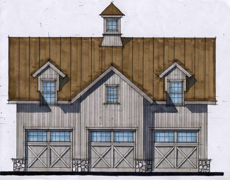 South Salem NY garage design by DeMotte Architects