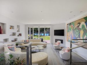 Eastchester NY home remodel by DeMotte Architects modern living room