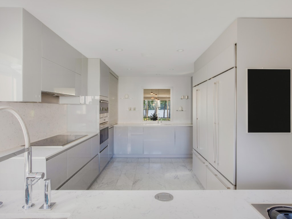 Eastchester NY townhouse remodel with modern kitchen