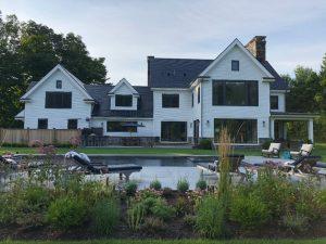 Greenwich CT modern farmhouse design by DeMotte Architects