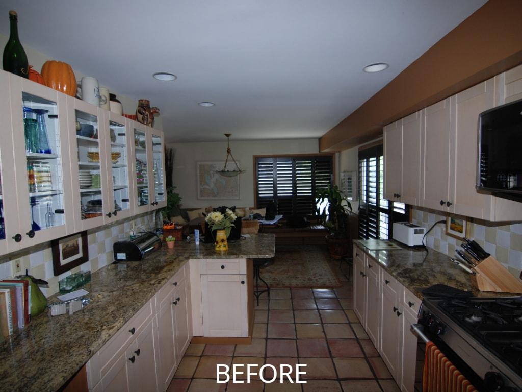 Interiors before remodel