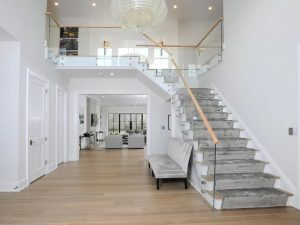 Interiors of modern farmhouse in Greenwich CT