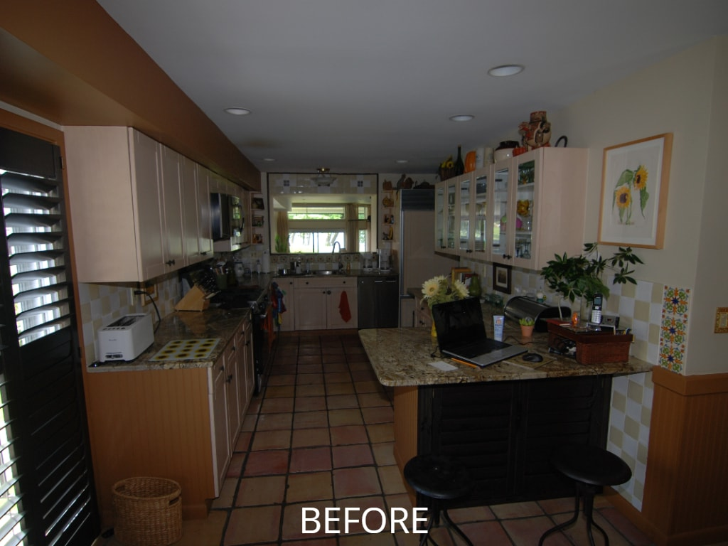 Kitchen before remodel in NY
