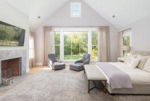 Modern farmhouse bedroom in Greenwich CT