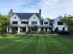 Modern farmhouse design by DeMotte Architects in Connecticut