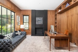 Modern farmhouse study in contemporary design