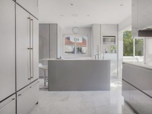 Modern home remodel in Eastchester NY by DeMotte Architects